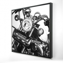 Framed 24 x 24 - 3D - Realistic motorcycle