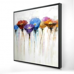 Framed 24 x 24 - 3D - Colorful flowers