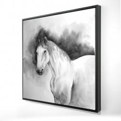Framed 24 x 24 - 3D - Domino horse