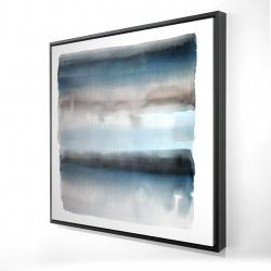 Framed 24 x 24 - 3D - Blue stripes