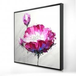 Framed 24 x 24 - 3D - Fuchsia wild flower
