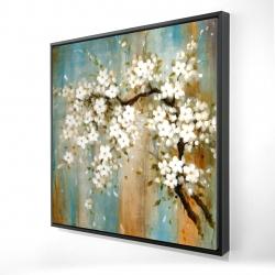 Framed 24 x 24 - 3D - Relaxing cherry blossoms