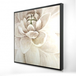 Framed 24 x 24 - 3D - Delicate chrysanthemum