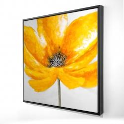 Framed 24 x 24 - 3D - Big yellow flower