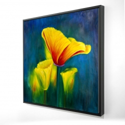 Framed 24 x 24 - 3D - Beautiful colorful flowers