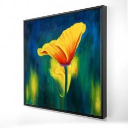 Framed 24 x 24 - 3D - Superb contrast flowers