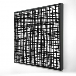 Framed 24 x 24 - 3D - Abstract small stripes