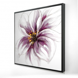 Framed 24 x 24 - 3D - Purple orchid