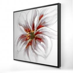 Framed 24 x 24 - 3D - Resplendent pink orchid