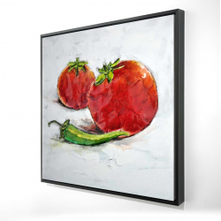 Framed 24 x 24 - 3D - Tomatoes with jalapeño