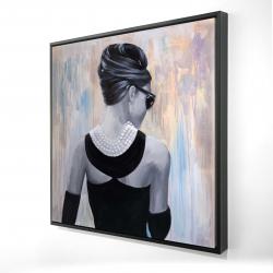 Framed 24 x 24 - 3D - Actress audrey hepburn