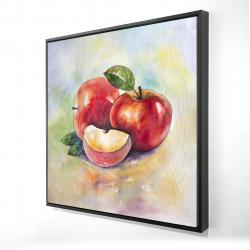 Framed 24 x 24 - 3D - Succulent apples