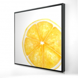 Framed 24 x 24 - 3D - Lemon slice
