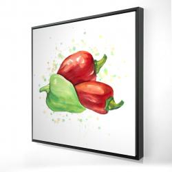 Framed 24 x 24 - 3D - Bell peppers
