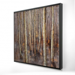 Framed 24 x 24 - 3D - The dark forest