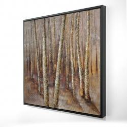 Framed 24 x 24 - 3D - Forest