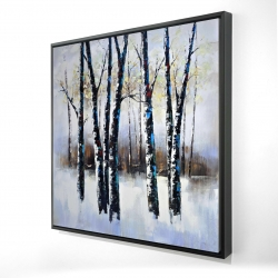 Framed 24 x 24 - 3D - Frosted trees