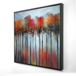 Framed 24 x 24 - 3D - Abstract and colorful forest