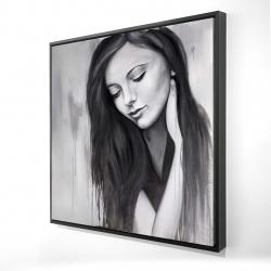 Framed 24 x 24 - 3D - Realistic woman portrait
