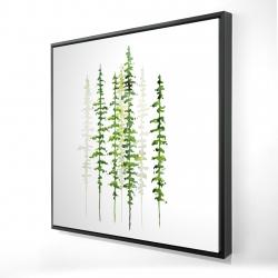 Framed 24 x 24 - 3D - Minimalist trees