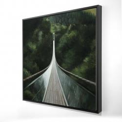 Framed 24 x 24 - 3D - Steep bridge