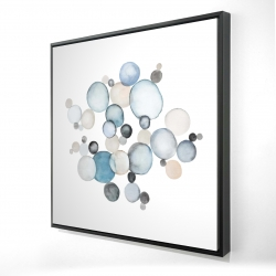 Framed 24 x 24 - 3D - Round pebbles