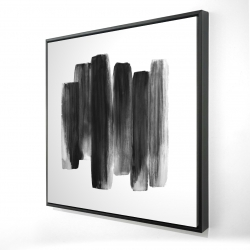 Framed 36 x 36 - 3D - Black shapes