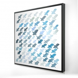 Framed 24 x 24 - 3D - X pattern