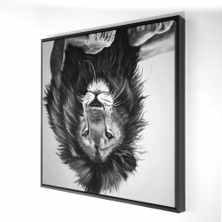 Framed 24 x 24 - 3D - The lion king