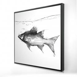 Framed 24 x 24 - 3D - Swimming fish