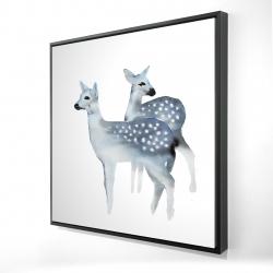 Framed 24 x 24 - 3D - Blue fawns