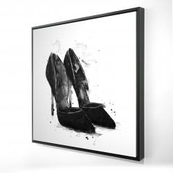 Framed 24 x 24 - 3D - Black pumps