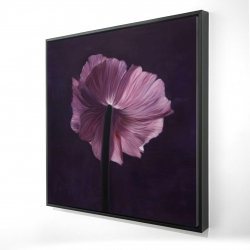 Framed 24 x 24 - 3D - Purple petals