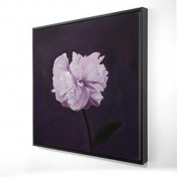 Framed 24 x 24 - 3D - Beautiful purple flower
