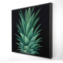 Framed 24 x 24 - 3D - Pineapple leaves
