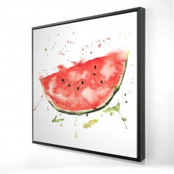 Framed 36 x 36 - 3D - Watermelon slice