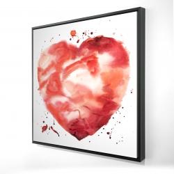 Framed 24 x 24 - 3D - Big heart
