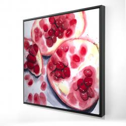 Framed 24 x 24 - 3D - Pomegranate pieces