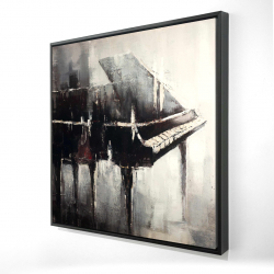 Framed 24 x 24 - 3D - Industrial style piano