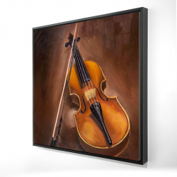 Framed 24 x 24 - 3D - Alto violin