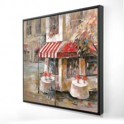 Framed 24 x 24 - 3D - Sunny restaurant terrace