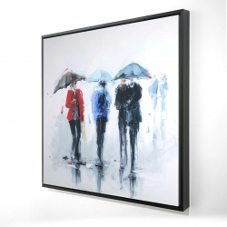 Framed 24 x 24 - 3D - Spring shower