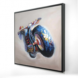 Framed 24 x 24 - 3D - Motorcycle in jump