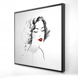 Framed 24 x 24 - 3D - Watercolor woman