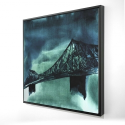 Framed 24 x 24 - 3D - Montreal jacques-cartier bridge