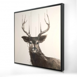 Framed 24 x 24 - 3D - Abstract deer