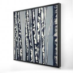 Framed 24 x 24 - 3D - Pastel birches