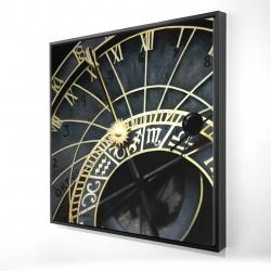 Framed 24 x 24 - 3D - Astrologic clock