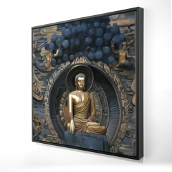 Framed 24 x 24 - 3D - Grand buddha at lingshan scenic area in china