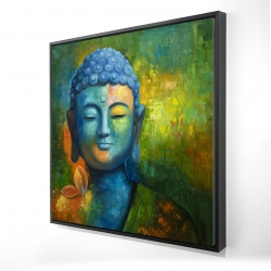 Framed 24 x 24 - 3D - Blissful buddha